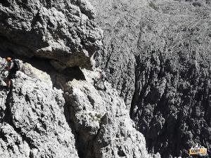 W ścianie ferraty Brigata Tridentina