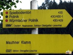 Droga przy potoku Valentinbach