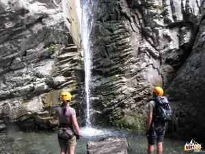 Boczny wodospad w Mauthner Klamm