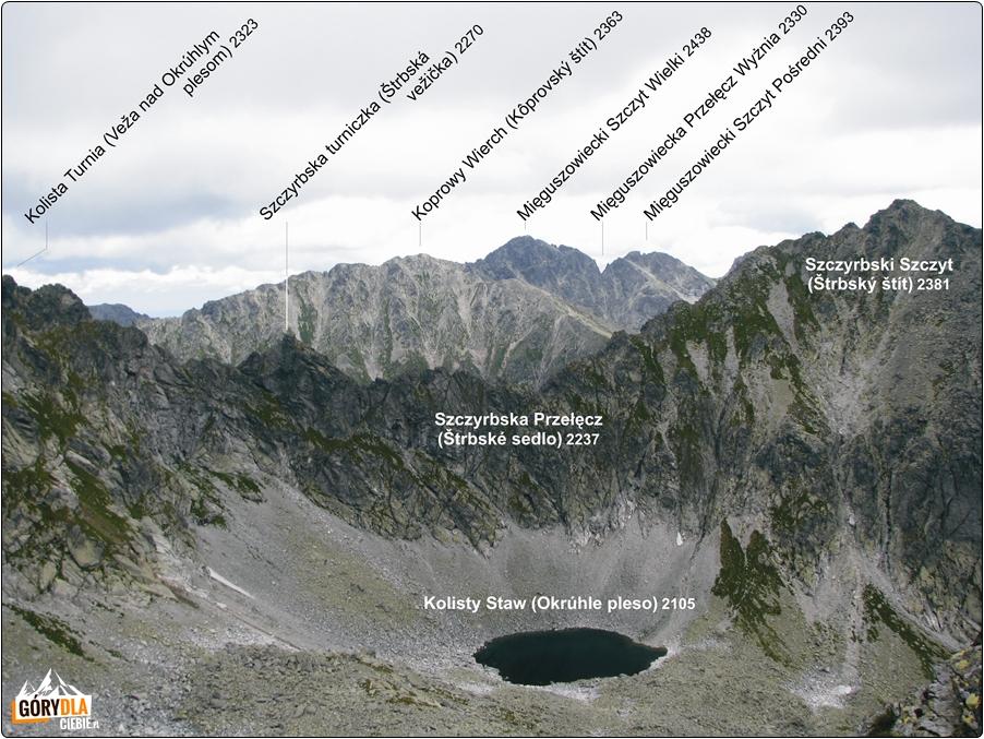 Panorama zBystrej Ławki 2300 m n.p.m.