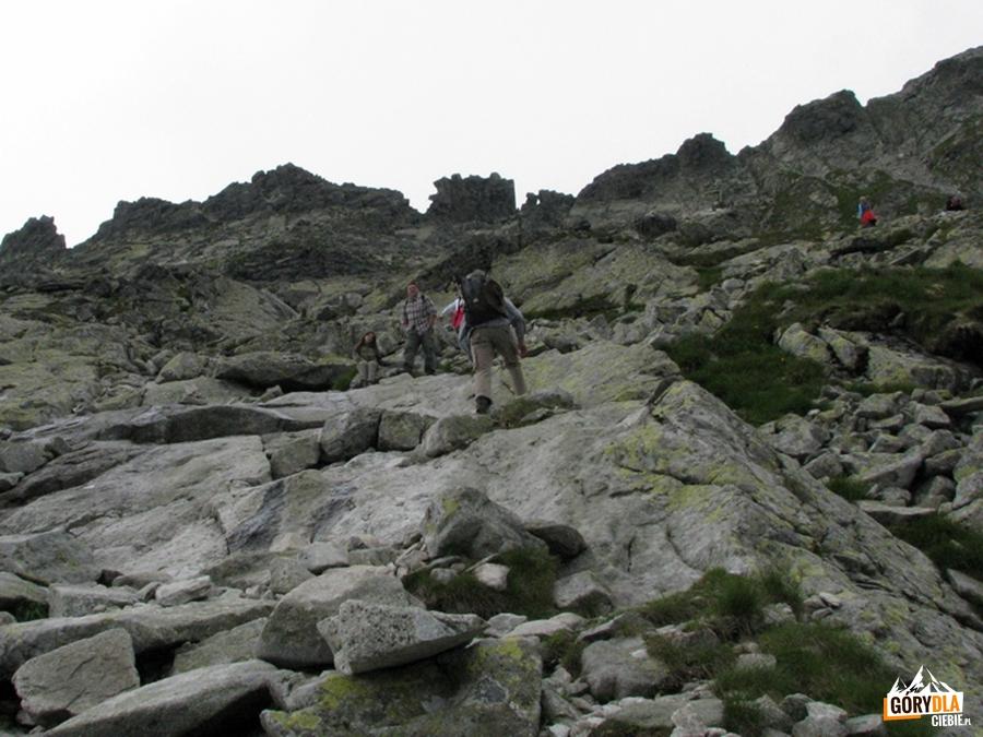 Podejście naBystrą Ławkę (Bystrá lavká) 2300 m n.p.m.