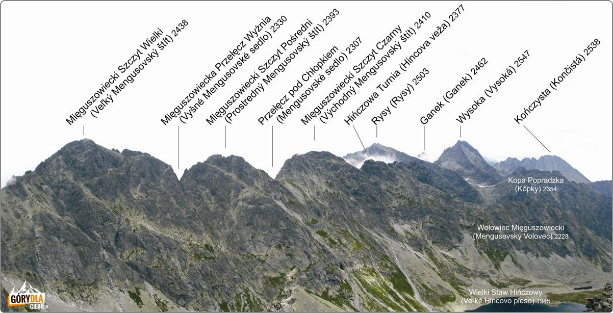 Panorama zeszczytu Koprowego Wierchu (napn. wschód)