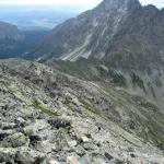Zejście na Koprową Przełęcz Wyżnią