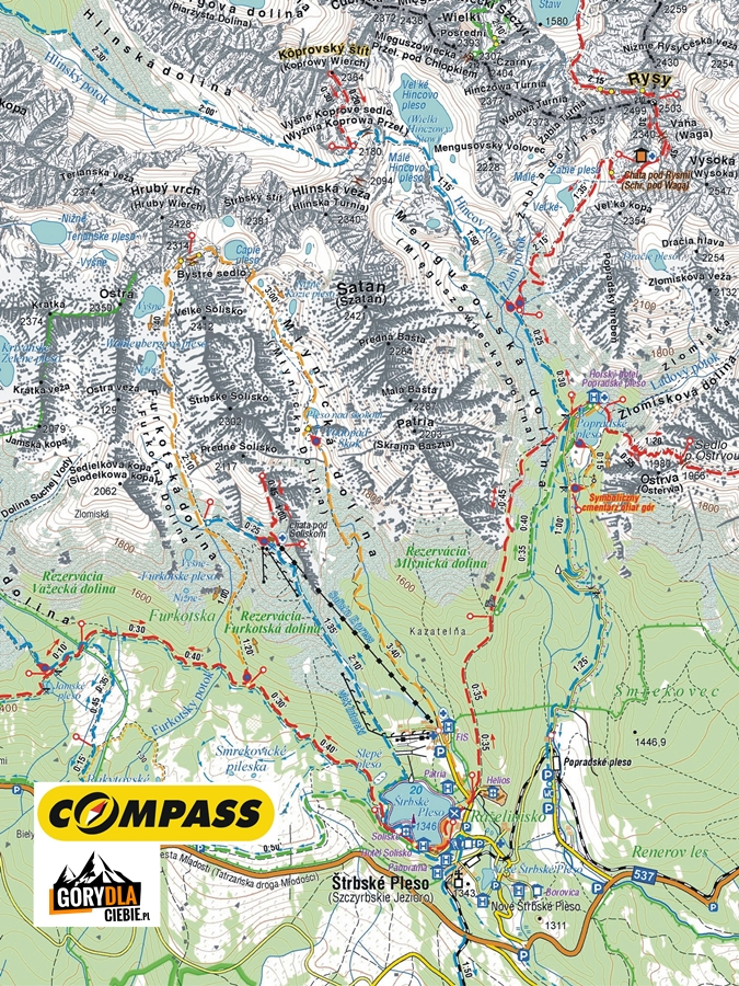 Koprowy Wierch, mapa