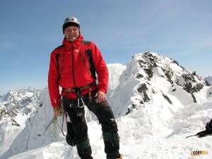 Na taternickim wierzchołku Świnicy 2291 m