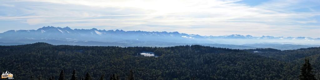 Panorama Tatr zpolany Przysłop Górny
