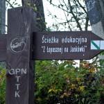 Skrzyżowanie szlaków w Łopusznej – Zarąbek Średni