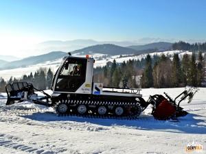 Przygotowanie narciarskich tras biegowych pod Mogielicą