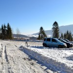 Narciarskie trasy biegowe pod Mogielicą - Zalesie, parking