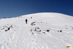 Grań Babiej Góry 1725 m przed Gówniakiem 1617 m
