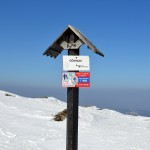 Szczyt Gówniaka 1617 m na grani Babiej Góry 1725 m