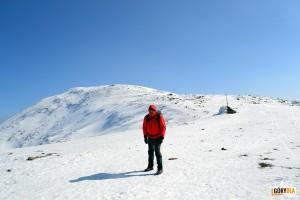 Pod szczytem Babiej Góry - trudno ustać pionowo przy tak silnym wietrze