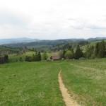 """Widok na """"Białą Wodę"""" ze szlaku na Przełęcz Rozdziela"""