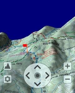 SeeMap 3D - górna część Rusinowej Polany - podejście naGęsią Szyję