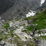 Zejście do Doliny Małej Zimnej Wody