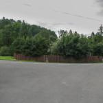 Tatranska Javorina - zakręt szosy w centrum