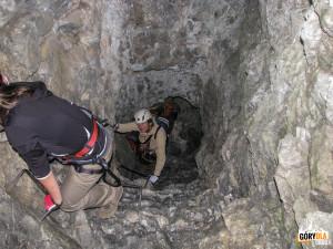 Wspinaczka ferratą w Cellonstollen
