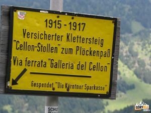 Tablica przy górnym wyjściu Cellonstollen