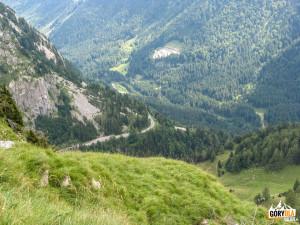 Widok na włoską stronę Przełęczy Plöcken Pass
