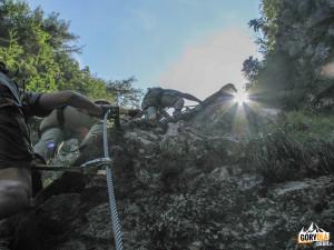 Pionowa ścianka obok wodospadu Rotschitza-Klamm
