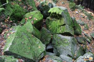 Zbójecka Jaskinia, jedna z wielu na Łopieniu