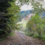 Zejście żółtym szlakiem na Suchą Polanę