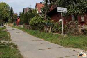 Miejsce startu żółtego szlaku z Rabki – Zaryte na Luboń Wielki