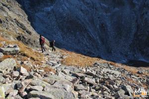 Zejścia z Zadniego Granatu do Koziej Dolinki
