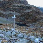 Rozwidlenie szlaków na progu Koziej Dolinki