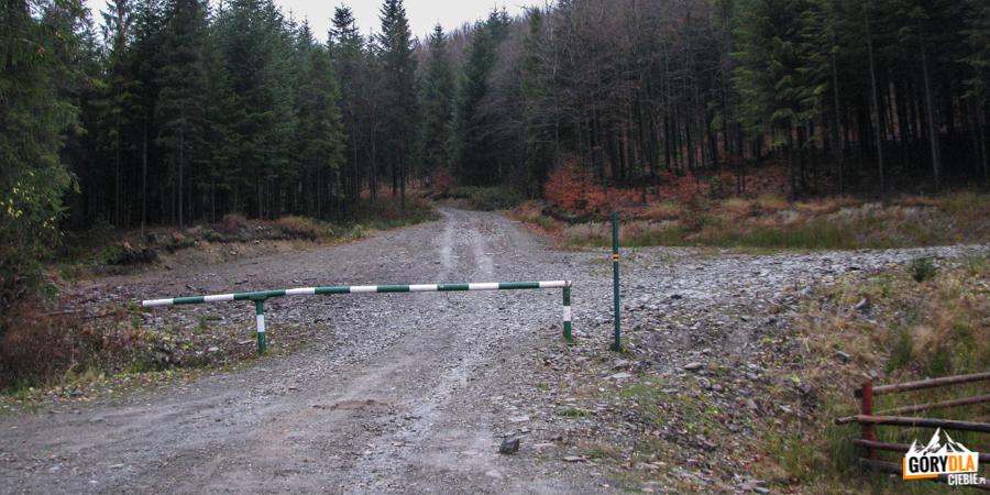 Półrzeczki - koniec asfaltu