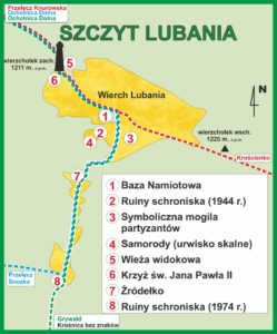 Szczyt Lubania, plan