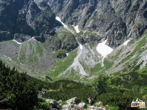 Zielony Staw (słow. Zelené Kačacie pleso) w Kaczej Dolinie (słow. Kačacia dolina).