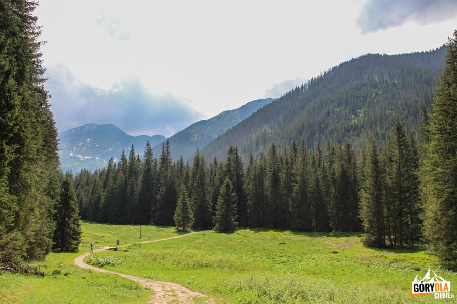 Bystra (2248 m) iBłyszcz (2159 m) widziane zHali Ornak