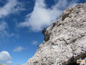 Na trasie ferraty Marino Bianchi naCristallo di Mezzo (2932 m)