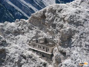 Pozostałości po I wojnie światowej - ferrata Ivano Dibona