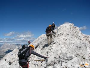 Powrót z Cristallino d'Ampezzo (3008 m)