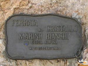 Ferrata Marino Bianchi na Cristallo di Mezzo (2932 m)