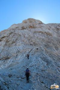 Początek wspinaczki na Triglav