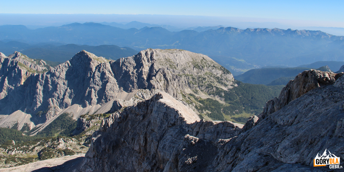 Panorama zwejscia naTriglav