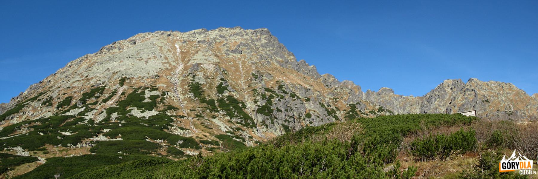 Kozi Wierch (2291 m) widziany zbrzegi Przedniego Stawu
