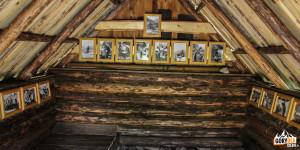 Wnętrze Koliby pod Klinem (słow. Príbylinský salaš)