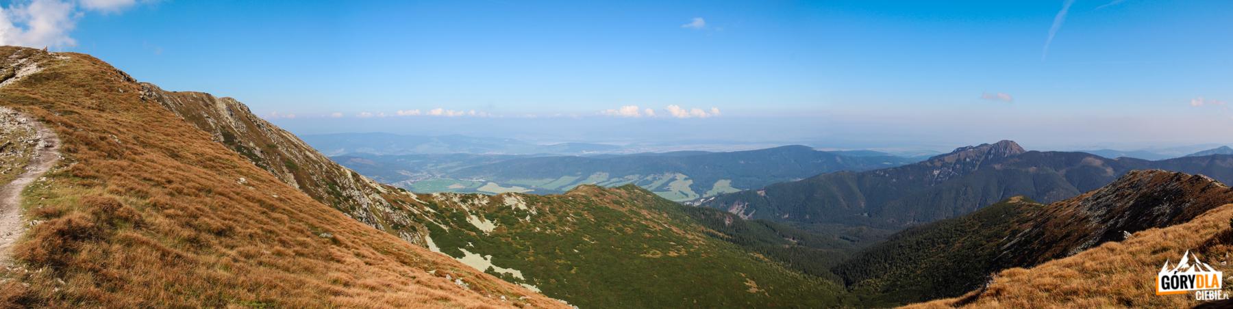 Widok zgrani Przedniego Salatyna (1815 m) naOsobitą (1687 m)