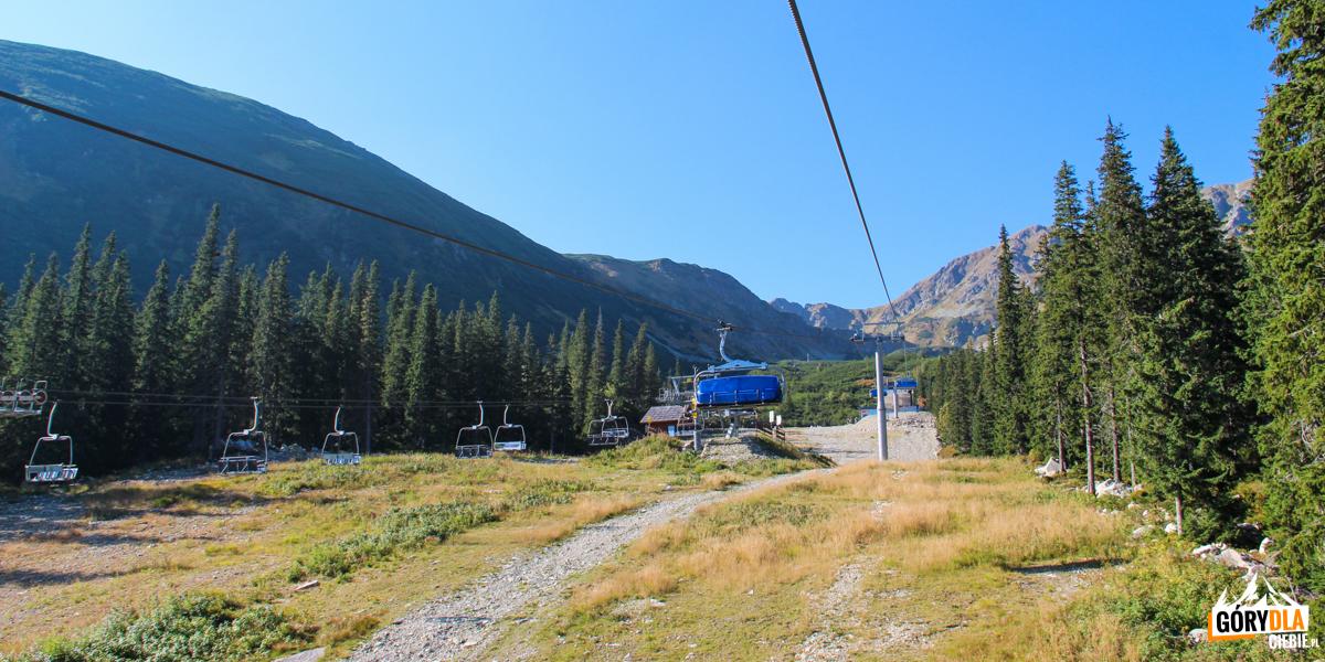 Kolejka linowa (6 os.krzesło) stacji narciarskiej Rohacze-Spalena
