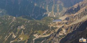 Rohackie Stawy widziane ze szczytu Pahoła (2167 m)