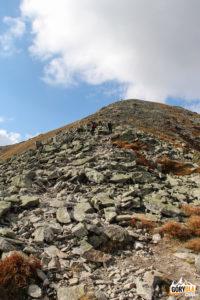 Zejście z Pahoła (2167 m) na Banikowską Przełęcz (2040 m)