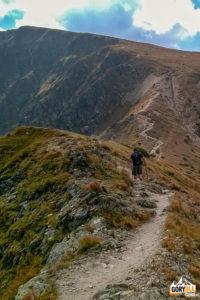 Zejście na przełęcz między Brestową (1934 m), a Salatynem (2048 m)