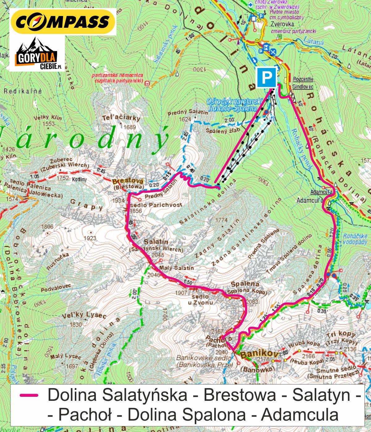 Salatyn iPachoł - mapa
