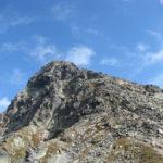 Szczyt Świnicy widziany z Przełęczy Świnickiej