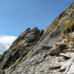 Niebezpieczny komin na podejściu od Zawratu na Świnicę