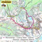 Droga przez Zawrat na Świnicę - mapa